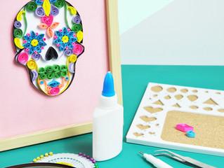 October's craft kit - Sugar Skull Quilling