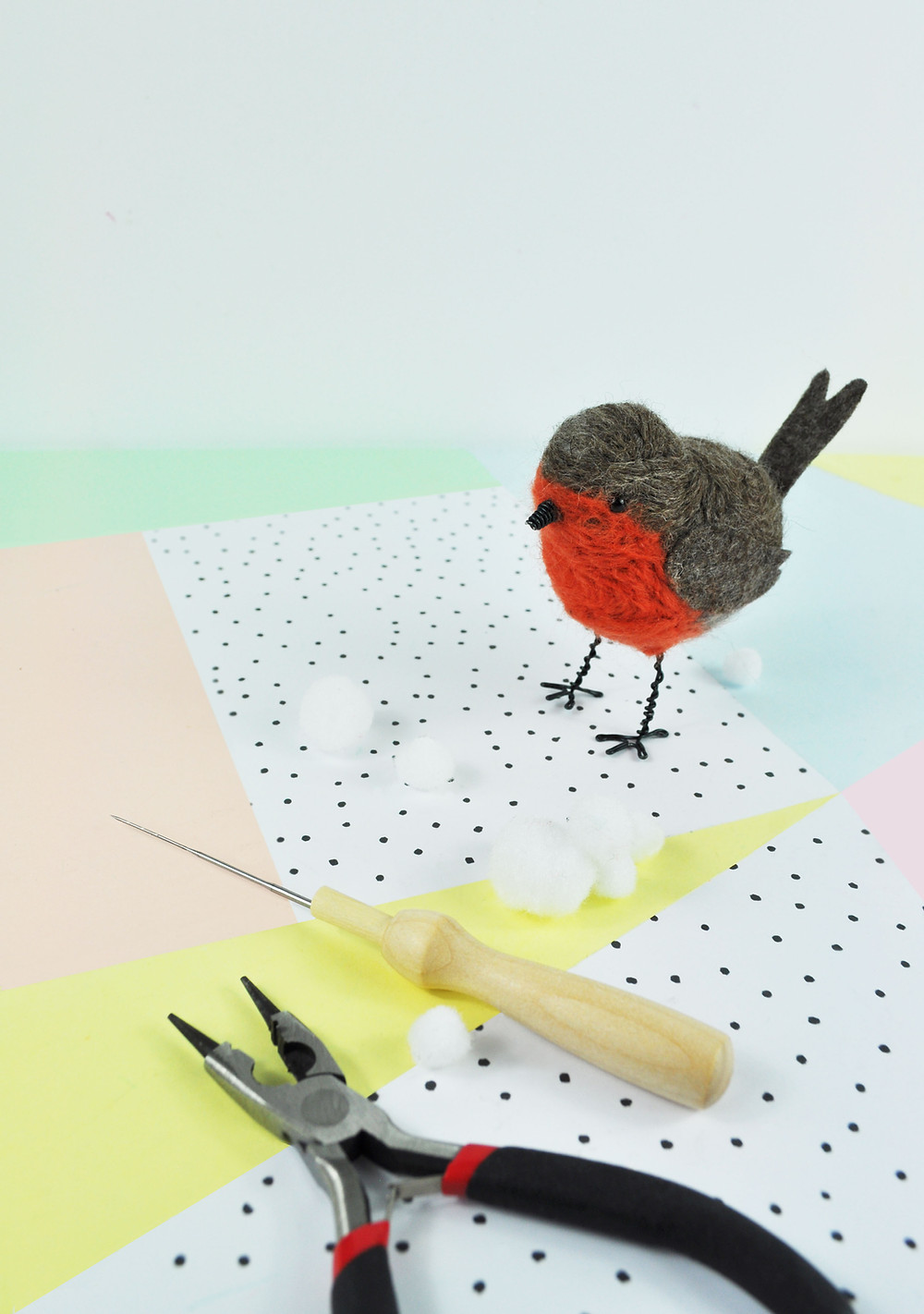 Needle Nelted Robin Craft Kit
