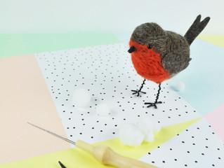 Novembers Box - Needle Felted Robin