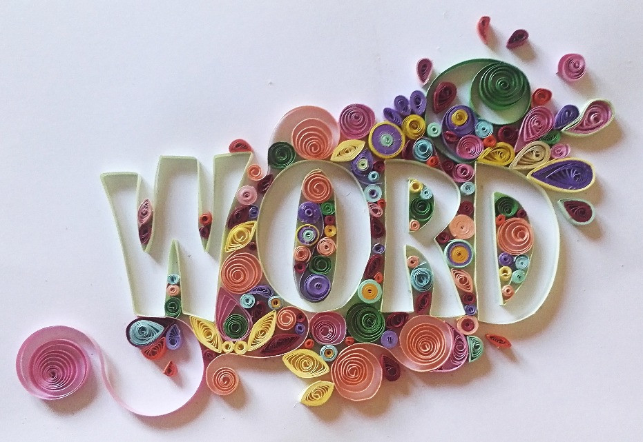 Quilling text