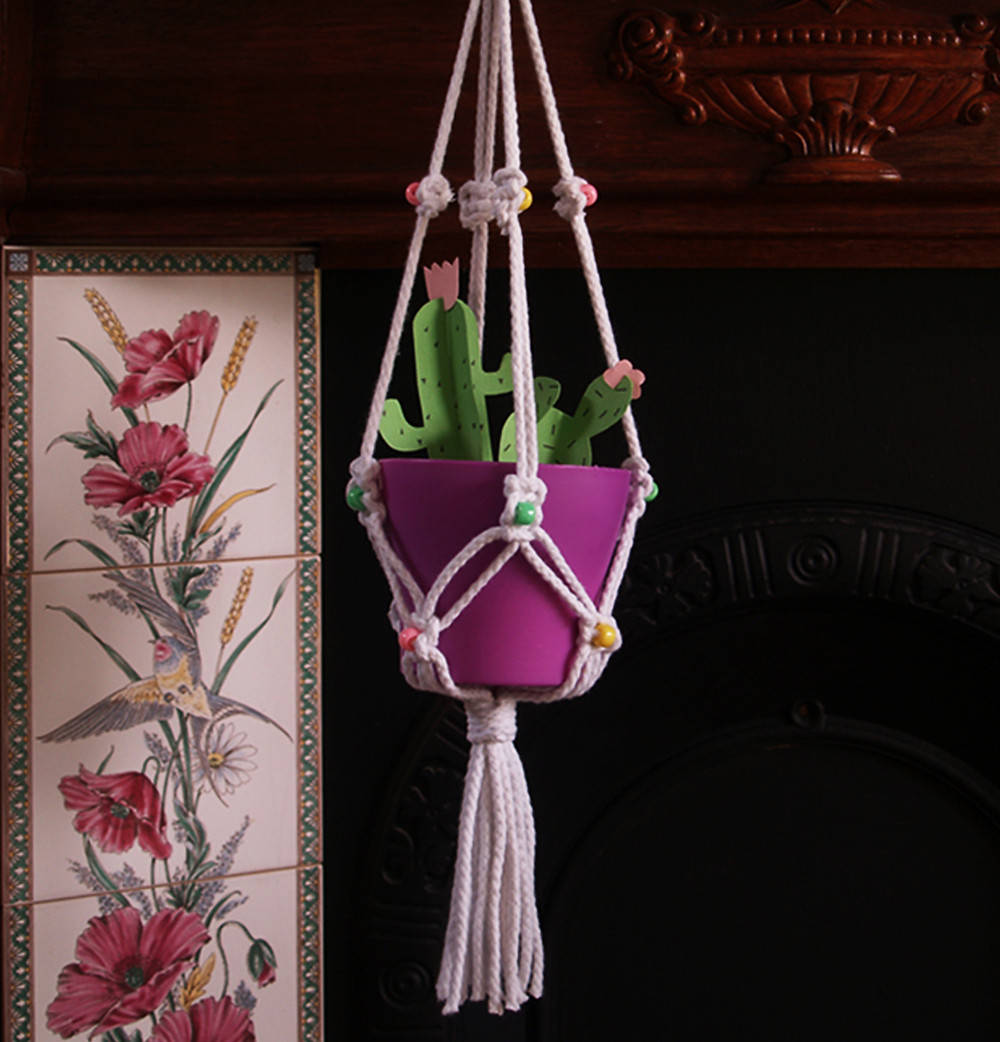 Make your own macrame plant holder craft kit