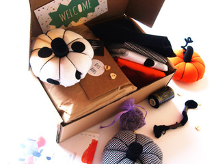 Octobers craft kit - Make your own  Scented pumpkins!