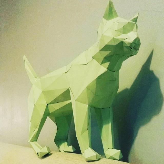 Paper craft cat subscription box
