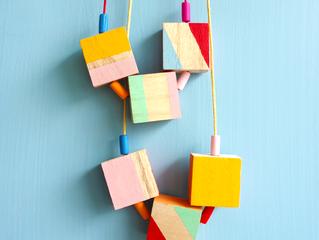 15 Minute Makes: Colour Block Necklace