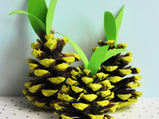 Quick Tutorial - Pine cone Pineapples!