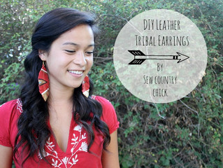 15 Minute Makes: DIY Tribal Leather Feather earrings