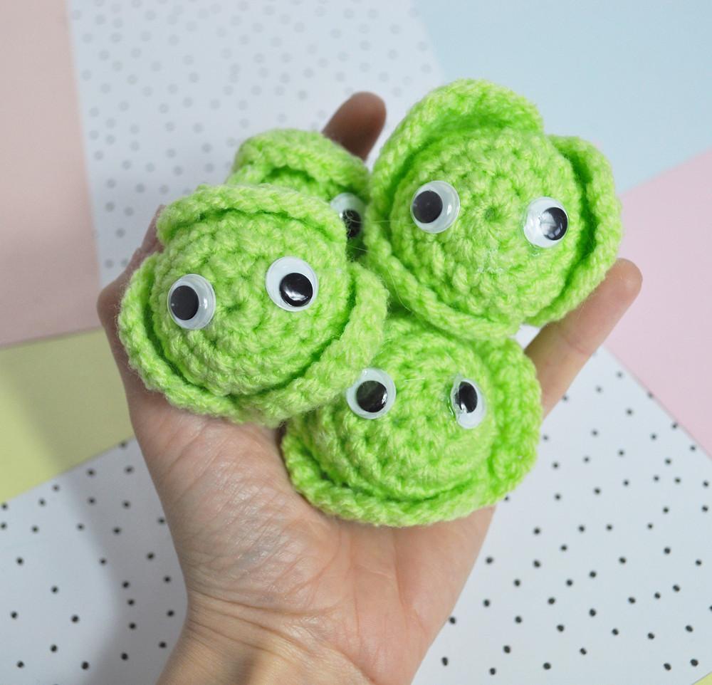 Crochet brussel sprout pattern