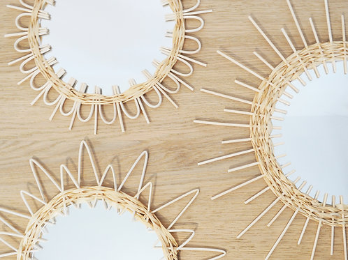 Rattan and Raffia Sunburst Mirror kit