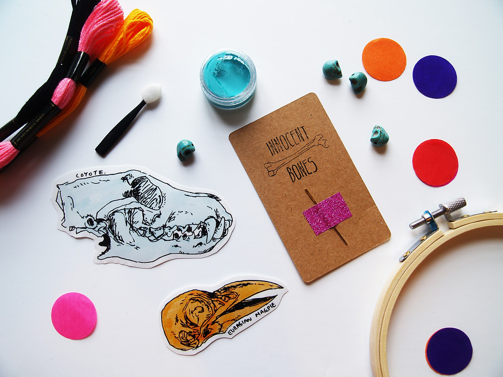 Skull stickers monthly craft kit