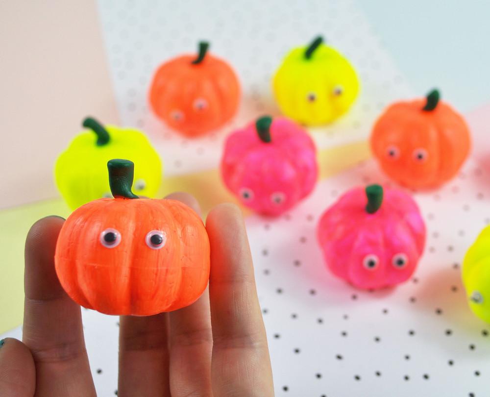 Neon pumpkin tutorial