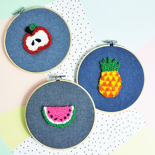 Summer fruits Punch Needle kit