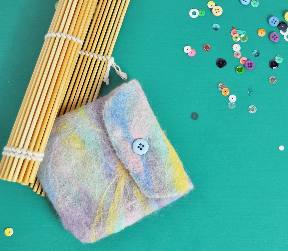 Wet felted purse kit