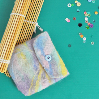 May 2019 - Wet felted purse kit