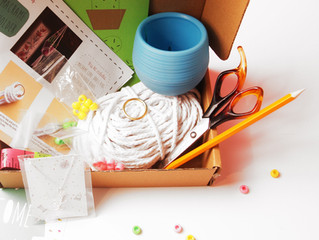 Novembers craft kit - Make your own Mini Macrame plant holder