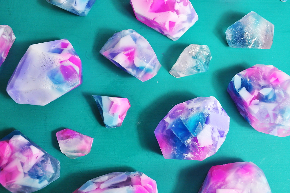 Make your own gemstone soap
