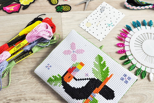 Tropical Toucan Cross Stitch Needle Book