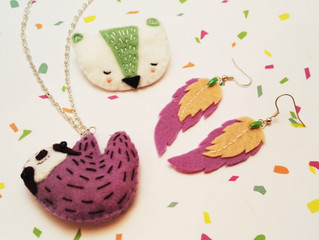"April's ""Stitch Up"" box - Felt Jewellery"