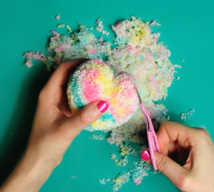 Make your own heart pom pom craft subscription box