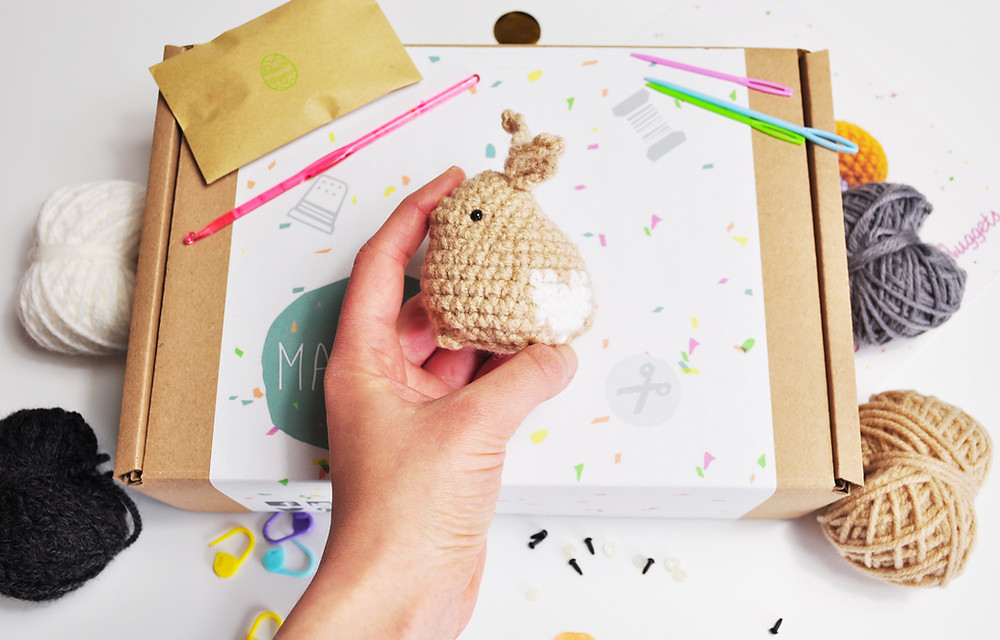 Make your own crochet rabbit craft subscription box