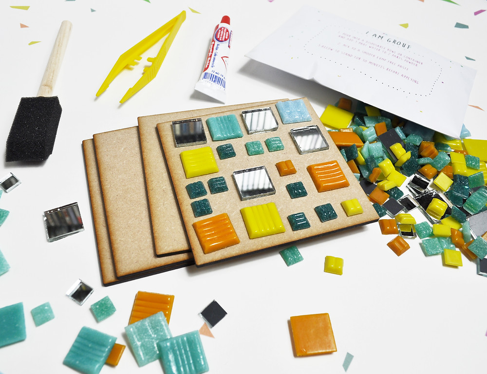 Make your own mosaic coasters craft subscription box