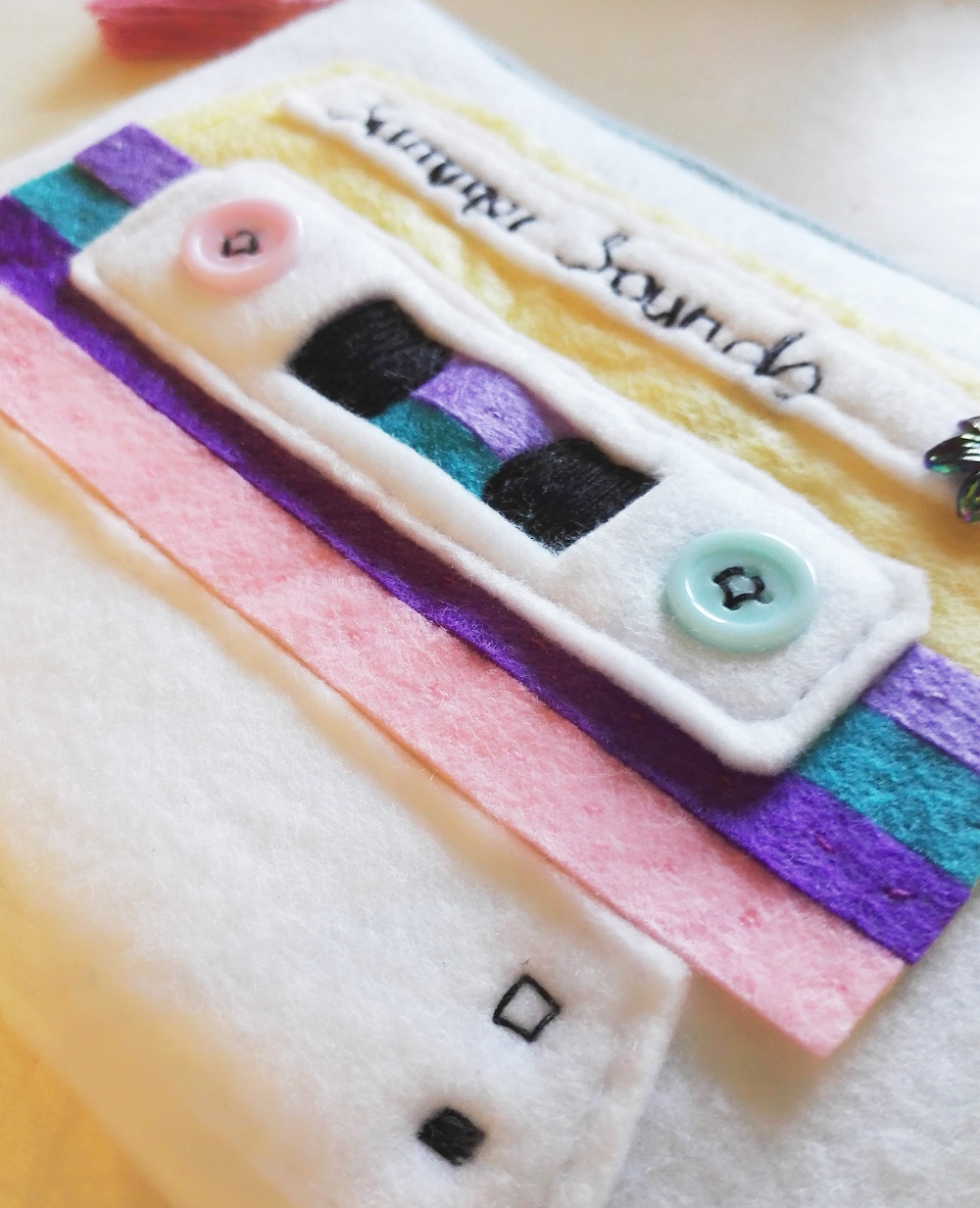 How to make a cassette tape zip purse
