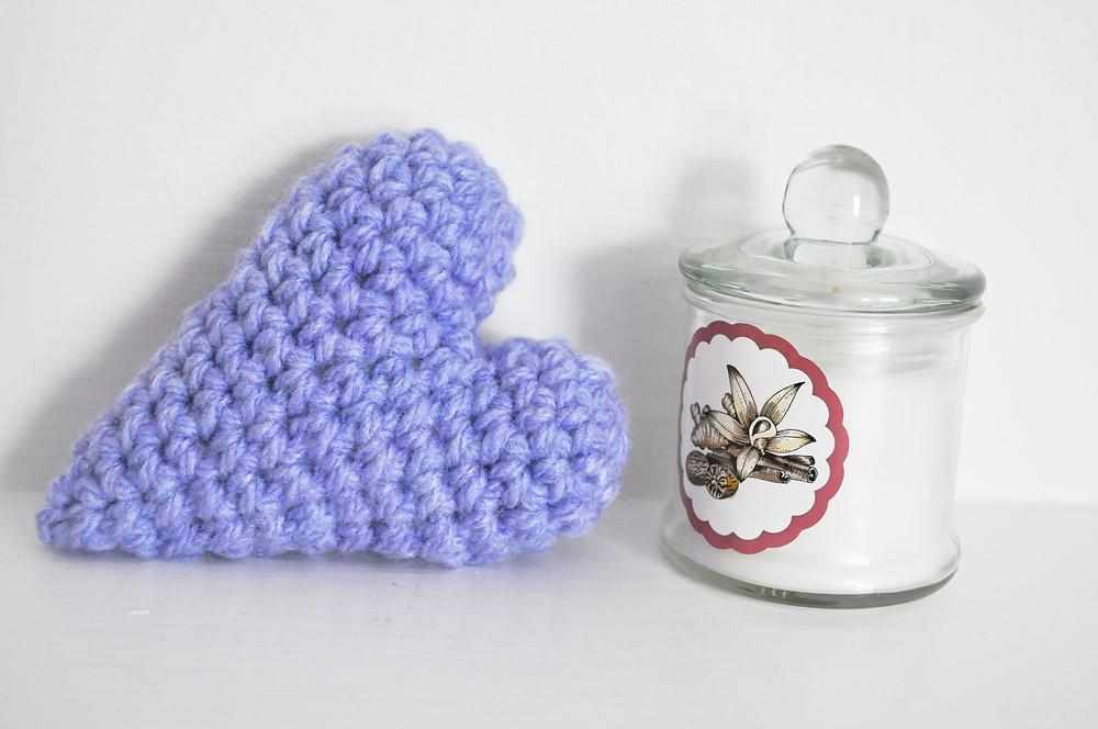 kawaii heart crochet