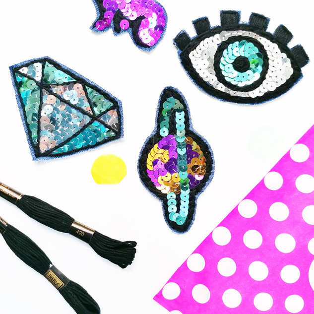 Sequin Patches Kit