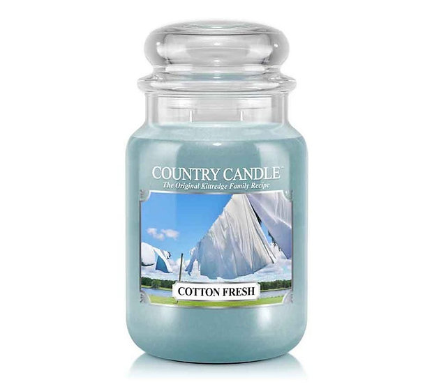 Country Candle Large Jar Cotton Fresh