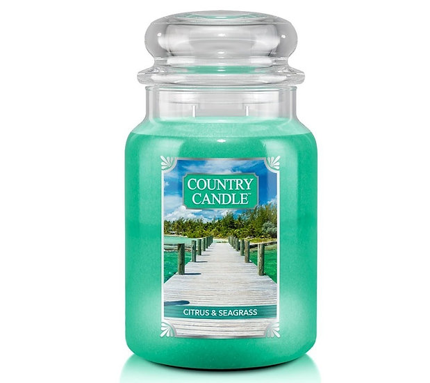 Country Candle Large Jar Citrus & Seagrass