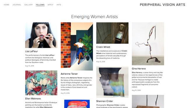 Emerging Female Artist Fellow Recipient
