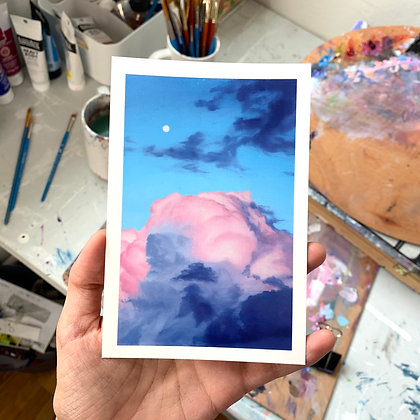 Pink Cloud Postcard