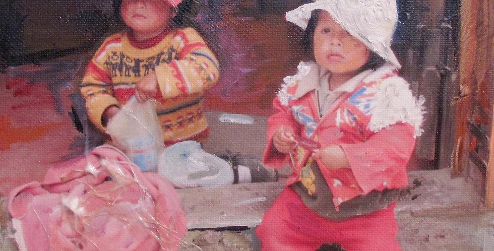 Siblings in Chivay Market