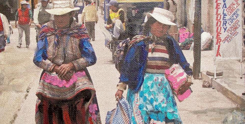 Chivay Market Shoppers