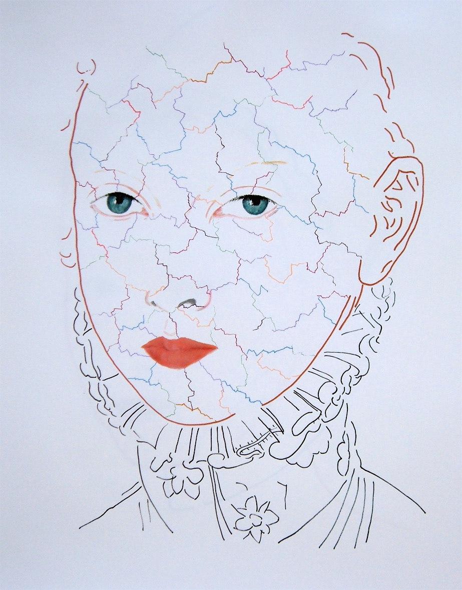 Paint Stick on Paper