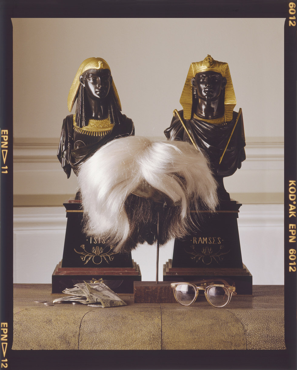 Andy Warhol's Wig, Glasses and Money