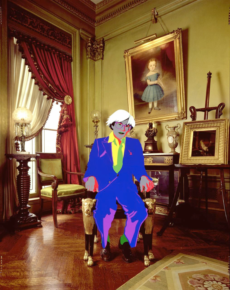 Andy Warhol in his First Floor Parlour