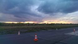 закат небо вечер