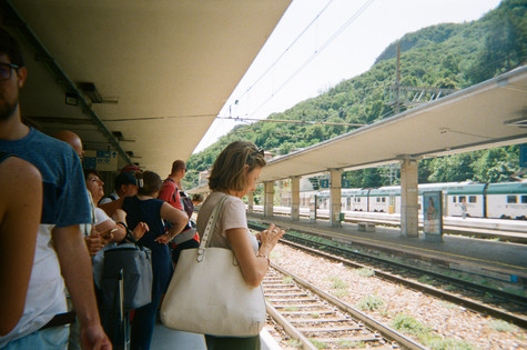 a train station somewhere in Italy (I actually am not sure where this was taken) /2019