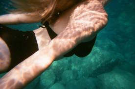 swimming in the Mediterranean Sea /2019