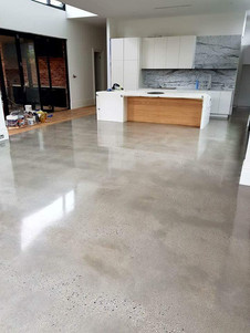 Living Area Polished Concrete