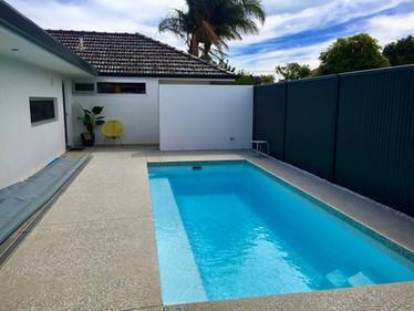 Concrete Aggregate Around Swimming Pool