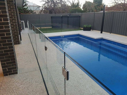 Concrete Pool Area