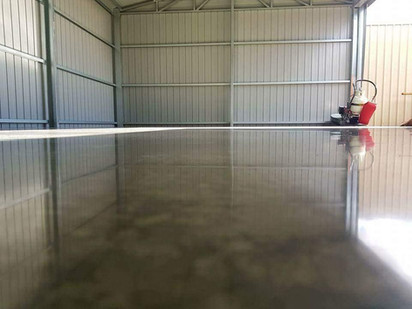 Polished Shed Floor