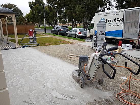 Polishing Concrete Driveway