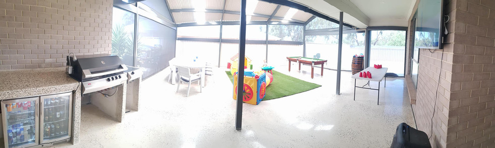 Outdoor Entertainment Concrete Floor