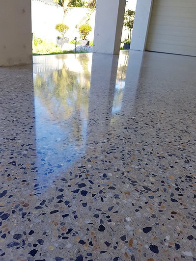 garage floor polished concrete
