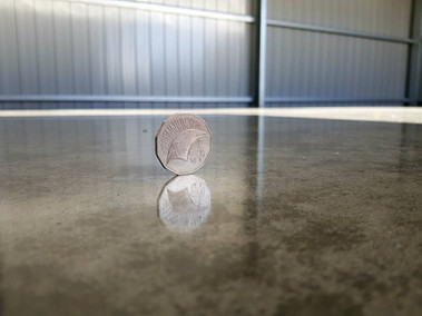 Polished Concrete Shed Floor
