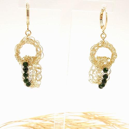 Boucles d'oreilles Filament 2 Anneaux