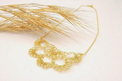 Collier Filament Papillon Plaqué or