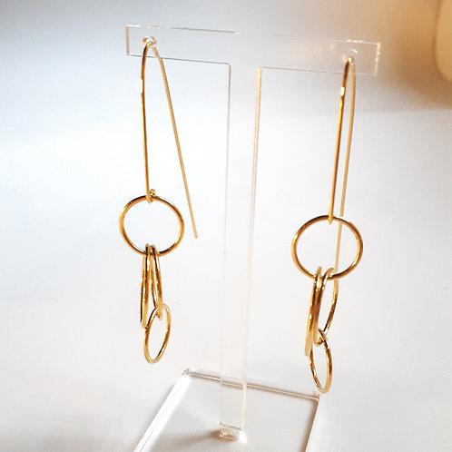 Boucles d'Oreilles L'Oasis 4 anneaux